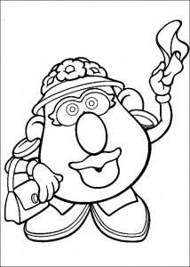 boyama sayfası Patates Kafa (2)