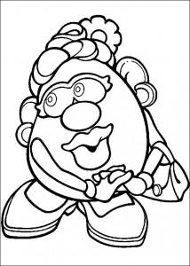 målarbok Mrs. Potatishuvud