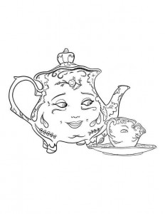 coloring page mrs potts chip 2