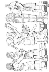 kleurplaat Mummie