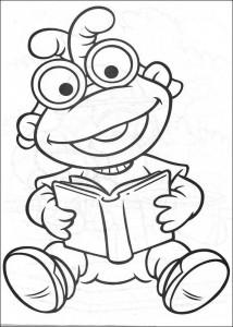 kleurplaat Muppet babies (3)