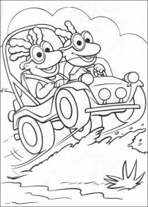 kleurplaat Muppet babies (4)