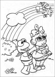 kleurplaat Muppet babies (5)