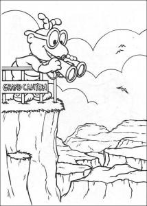 kleurplaat Muppet babies in de Grand Canyon