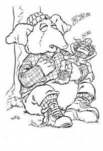 coloring page Muppets Speciaal (1)