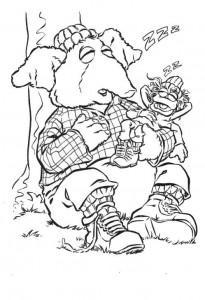 målarbok Muppets Speciaal (1)