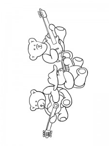 coloring page Making music (1)