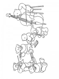 coloring page Making music (2)