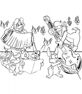coloring page Making music (4)