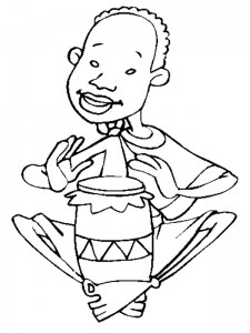 coloring page Musical instrument