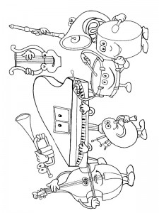 coloring page Musical instruments (4)