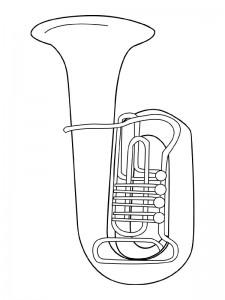 målarbok Musikinstrument
