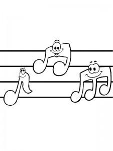 målarbok Musiknoter
