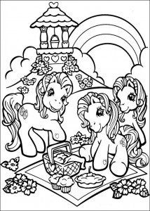 coloring page My Little Pony picnicking