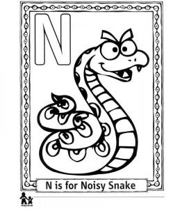 kleurplaat N Noisy - Lawaaiig