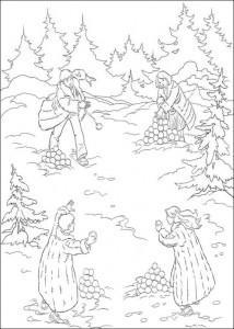 kleurplaat Narnia 3
