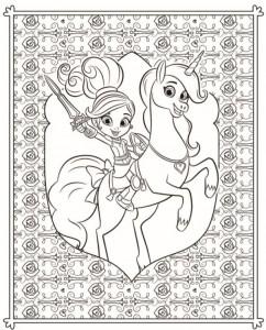kleurplaat nella de prinses 5