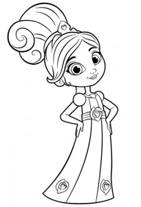 kleurplaat nella de prinses 8