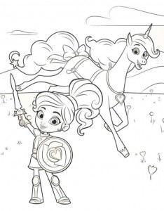 målarbok nella prinsessan riddare