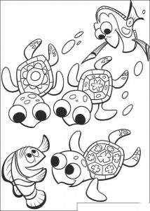 coloring page Nemo and his friends