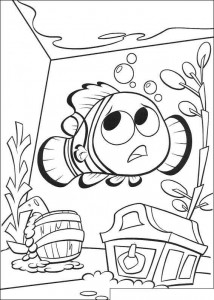 coloring page Nemo in the aqaurium (1)