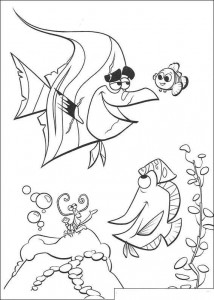 coloring page Nemo in the aqaurium (2)