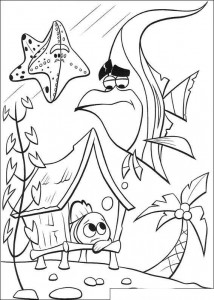 coloring page Nemo is unhappy