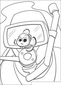 Dibujo para colorear Nemo ¡Cuidado!