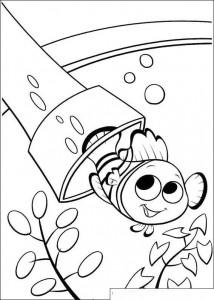 kleurplaat Nemo verstopt het filter