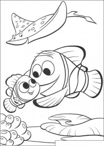 coloring page Nemo back to school