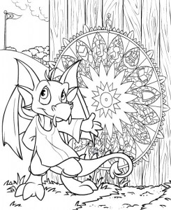 coloring page Neopets Brightvale (12)