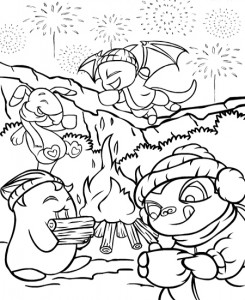 coloring page Neopets Brightvale (14)