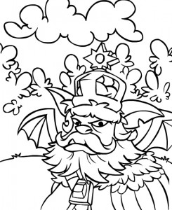 coloring page Neopets Brightvale (21)