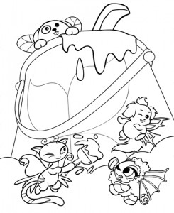 coloring page Neopets Feeenland (11)