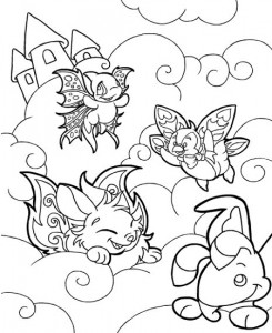 coloring page Neopets Feeenland (16)
