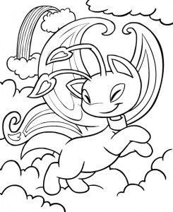 coloring page Neopets Feeenland (3)