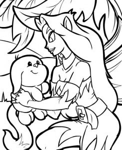 coloring page Neopets Feeenland (5)