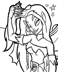 coloring page Neopets Feeenland (6)