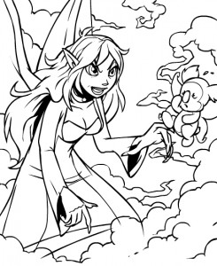 coloring page Neopets Feeenland