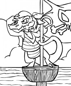 coloring page Neopets Krawk Island (4)