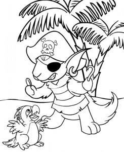 coloring page Neopets Krawk Island (9)