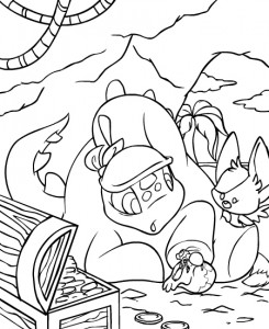 coloring page Neopets Krawk Island