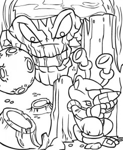 coloring page Neopets Kreludor (11)