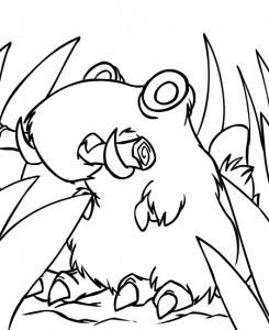 coloring page Neopets Prehistory (3)