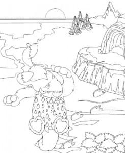 målarbok Neopets förhistoria (9)