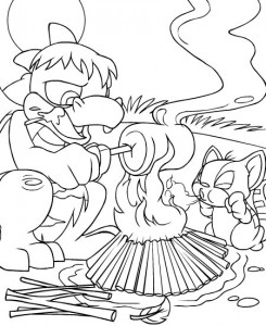 coloring page Neopets Tyrannia (1)