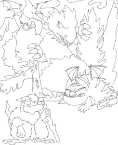 kleurplaat Neopets Tyrannia (10)