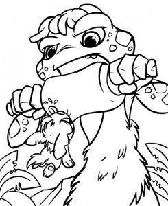 coloring page Neopets Tyrannia (5)