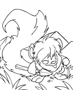 coloring page Neopets Tyrannia (7)