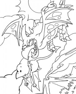coloring page Neopets Tyrannia